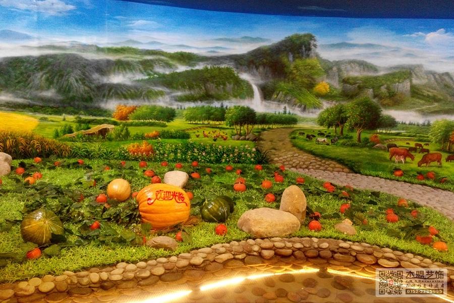 四季绿素食馆壁画5.jpg