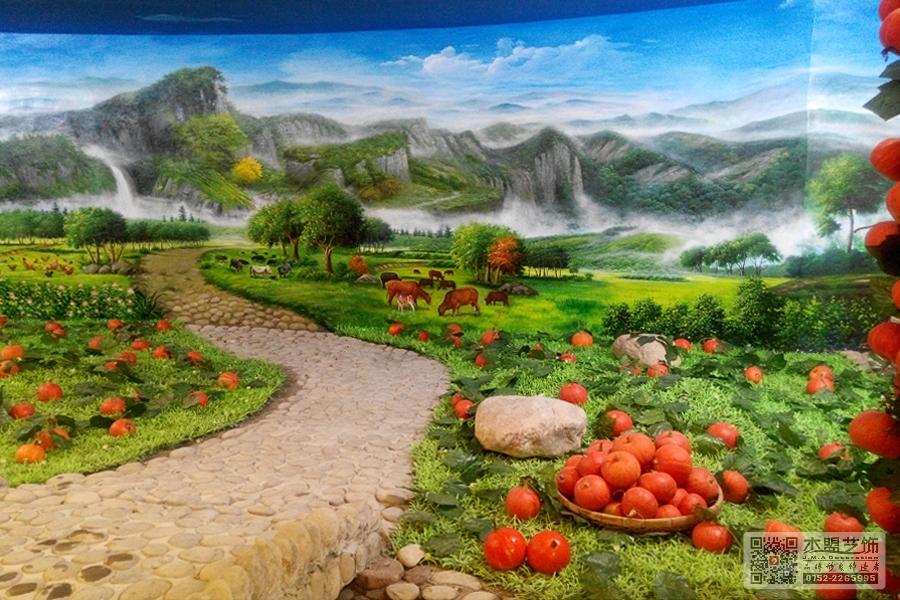 四季绿素食馆壁画4.jpg
