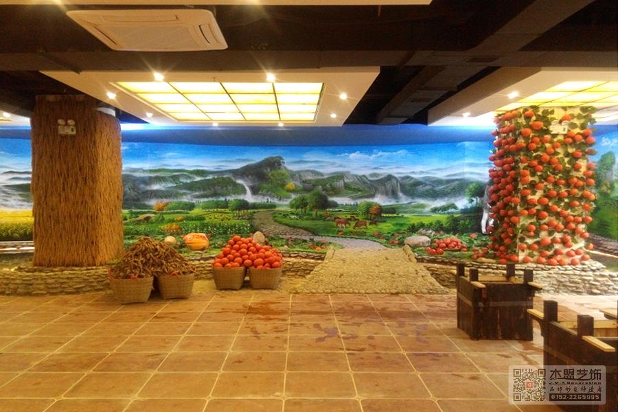 四季绿素食馆壁画3.jpg