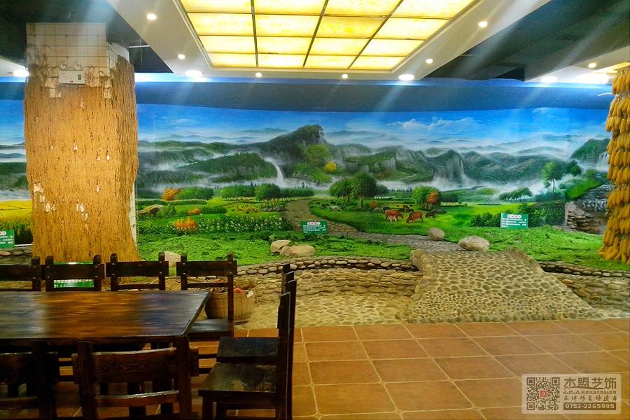 四季绿素食馆壁画6.jpg