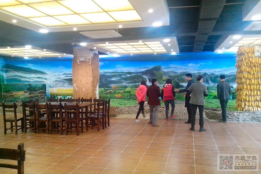 四季绿素食馆壁画7.jpg